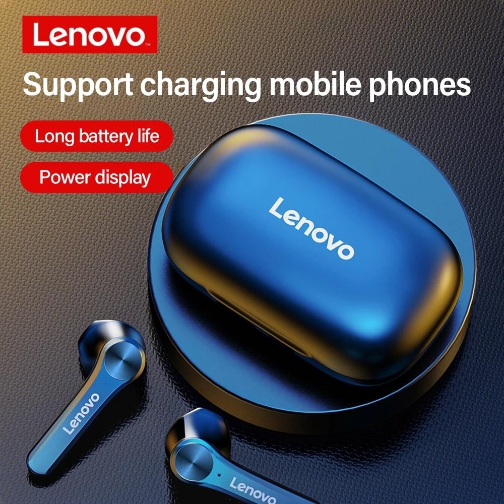 Lenovo QT81 TWS Wireless Headphone Stereo Sports Waterproof Earbuds Headsets with Microphone Bluetooth Earphones HD Call 1200mAh
