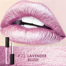 FOCALLURE yeni metal renk 8-renk kırmızı kalem uzun ömürlü inci ruj metal renk yüksek kaliteli dudak makyaj rengi 20 ila 27