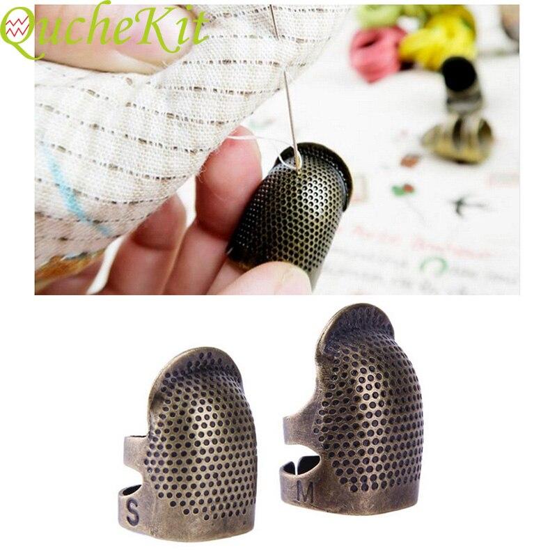 Herramientas de Protector de dedos de costura Retro herramientas de coser a mano dedal Protector de dedo de costura