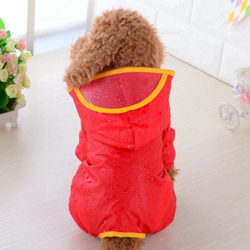 Дождевик для собак, щенков, с капюшоном, карамельных цветов, плащ с капюшоном, водонепроницаемый плюшевый плащ, одежда для собак, плащ пончо 2