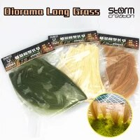 10 cm simulation long grass model sand table ho scale train military diy landscaping static scene making materials