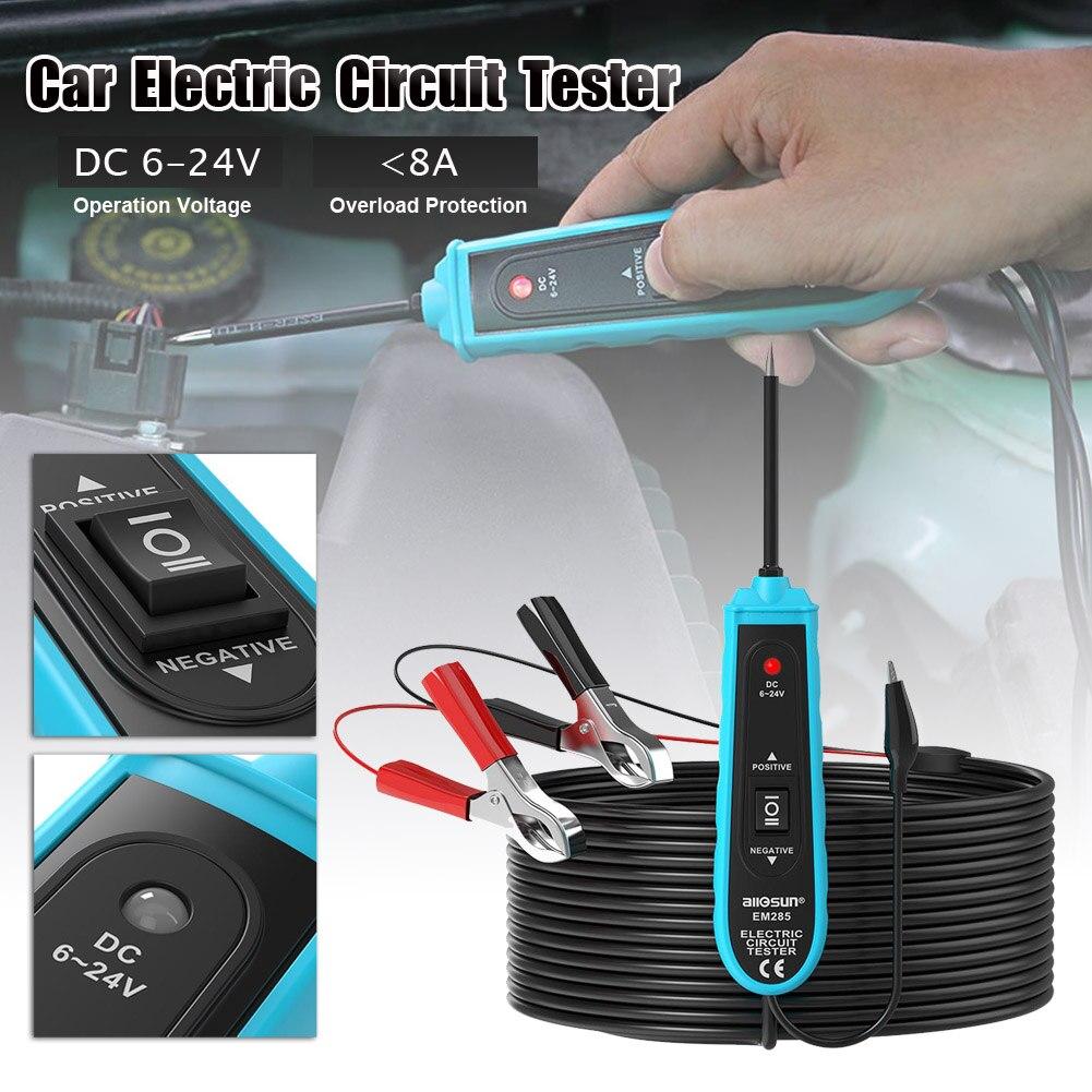 Распродажа 12V 24V Батарея Мощность зонд Авто цепи Тесты er электрические Системы Мощность сканирования Тесты автомобильные инструменты оптом...