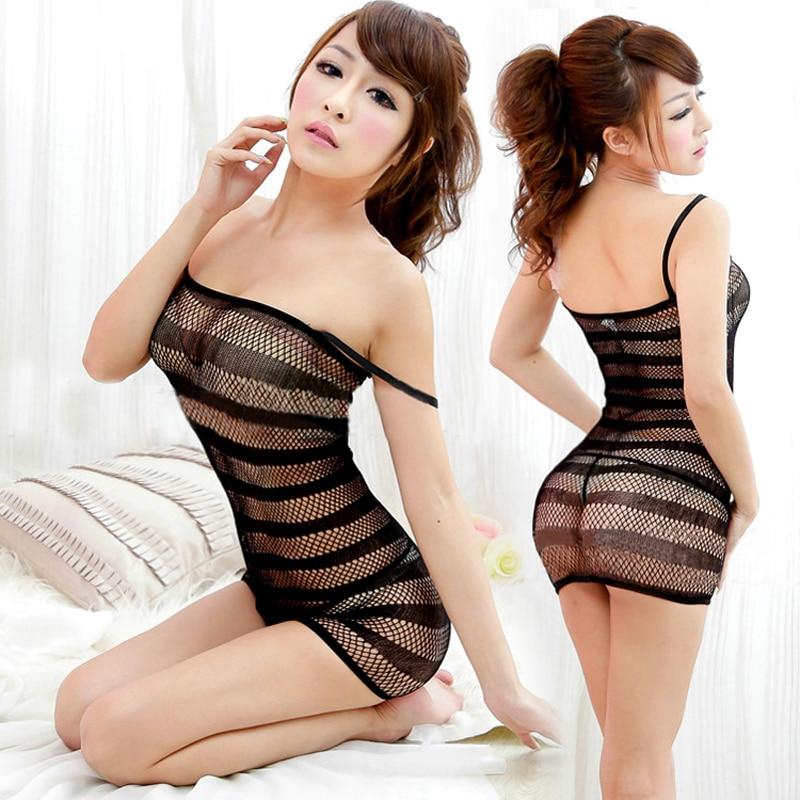 Women Sexy Lingerie Fishnet Babydoll Body Stocking Sleepwear Underwear Sex Games Fetish Men  Adult Sex Games-25