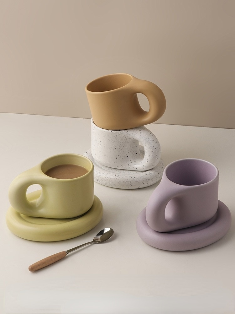 Travel Fashion Mugs Coffee Cups Ceramic Classic Europe Creative Mugs Modern Reusable Tazas Originales Kitchen Supplies BD50MM