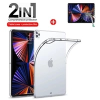 case glass for ipad pro 12 9 2015 2017 2018 2020 2021 12 9inch shell cover tpu silicon transparent slim airbag cover and glass