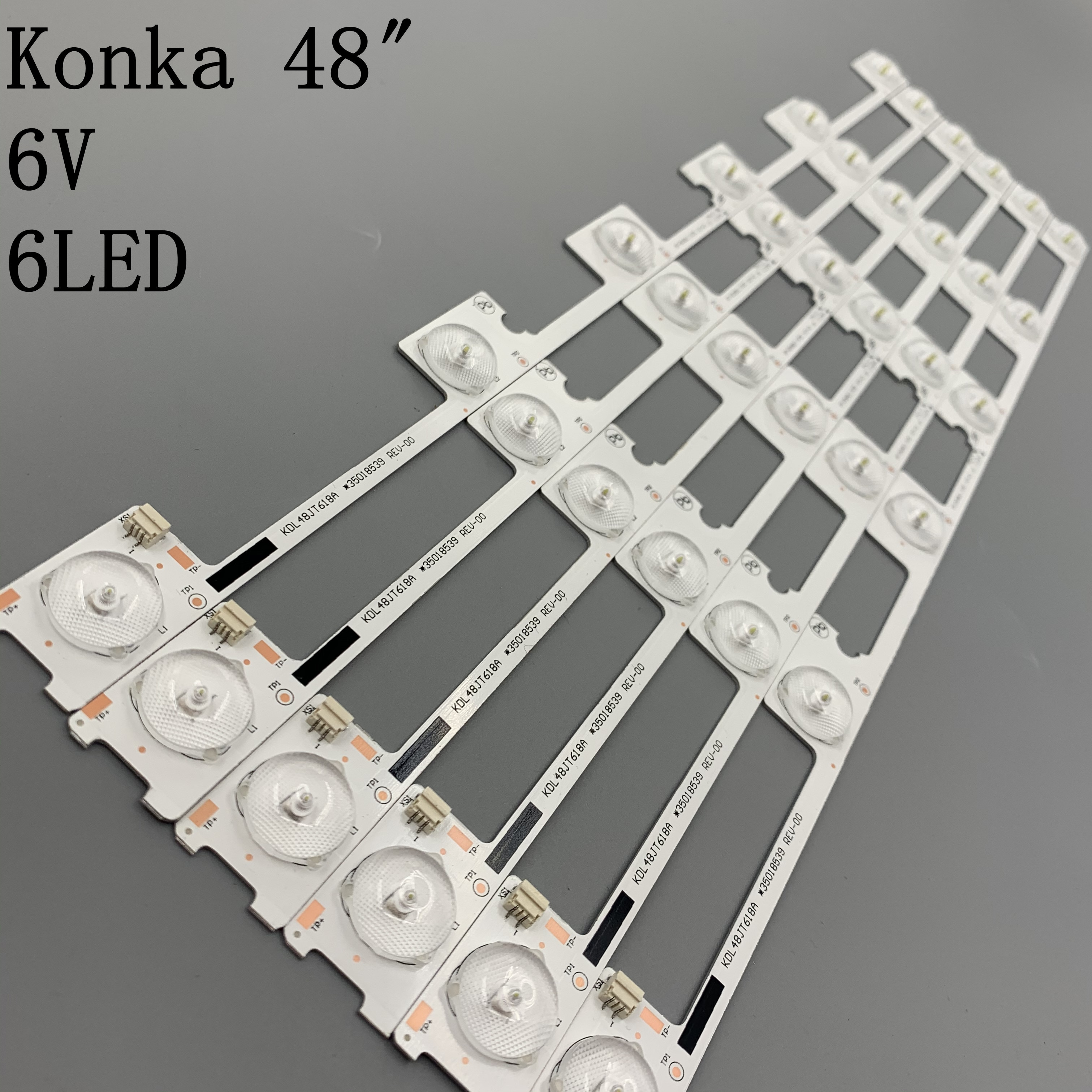 30PCS/Lot 100% Neue LED Streifen Bar Hintergrundbeleuchtung für KONKA KDL48JT618A KDL48SS618U 35018539 35018540 6 LED licht (6 V) 442mm