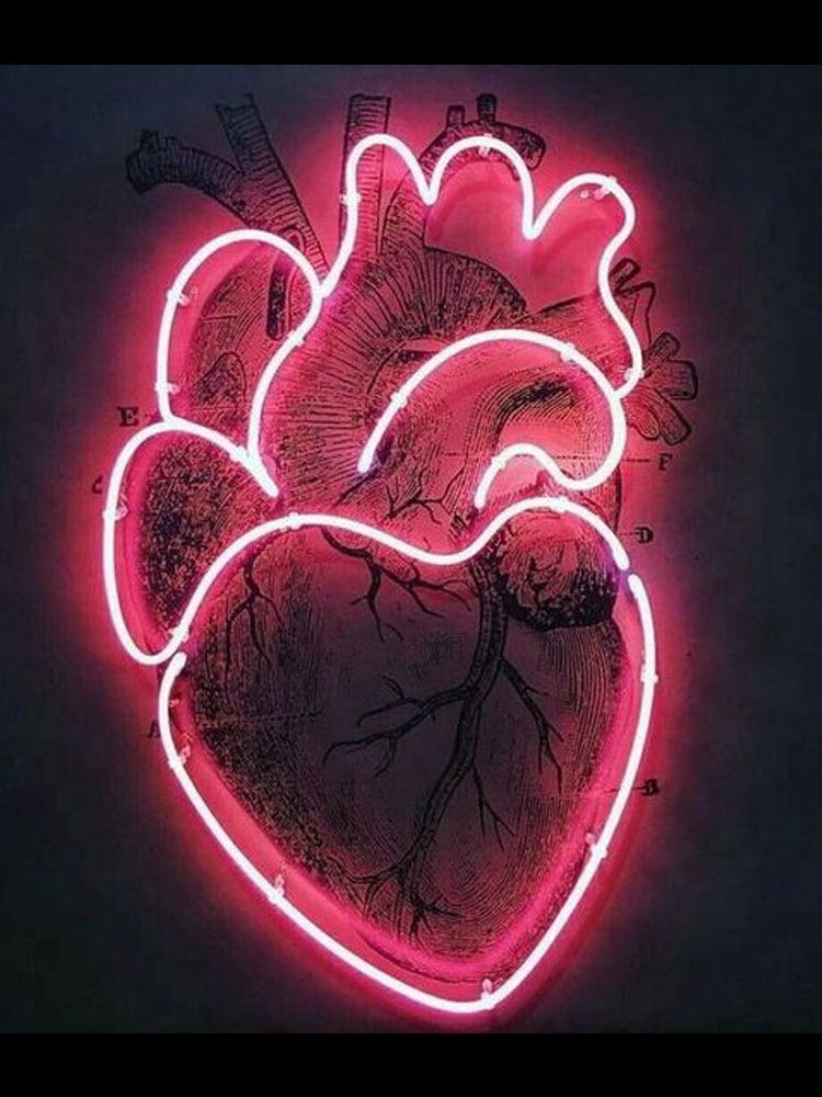النيون علامة ل نحن القلب ذلك أنبوب زجاجي حقيقي نادي تجاري ضوء المصباح الإعلان عن تأثير مخصص جذب ضوء غرفة الجمالية ديكور