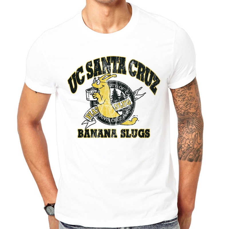 Camisetas de verano Pulp Fiction Film película Vincent UC Santa Cruz Banana Slugs camiseta impresa camiseta