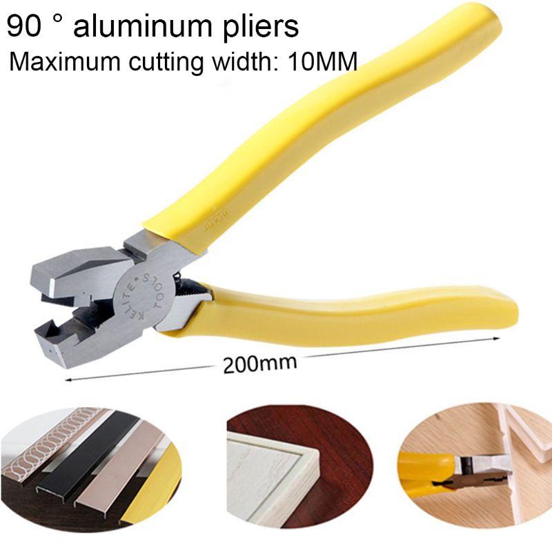 Alicates plegables de aleación de aluminio de 8 pulgadas y 90 grados cortador de muesca con ranura en V para marcos de flexión