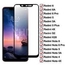 Full Tempered Glass For Redmi 6 Pro 6A 5 Plus 5A 4X S2 Go K20 Glass on Xiaomi Redmi Note 6 5 5A 4 4X Pro Screen Protective Film