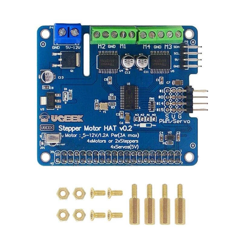 Raspberry Pi 4 Stepper Motor HAT V2.0 5-12V I2C Interface Expansion Board for Stepper/Motor/Servo for Arduino Raspberry Pi 3B/4B