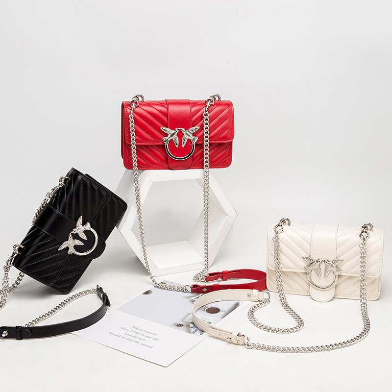 Top Quality Leather Shoulder Bag For Women's 2021 Metal Decor Luxury Women Crossbody Bag Female Designer Brand Handbag and Purse