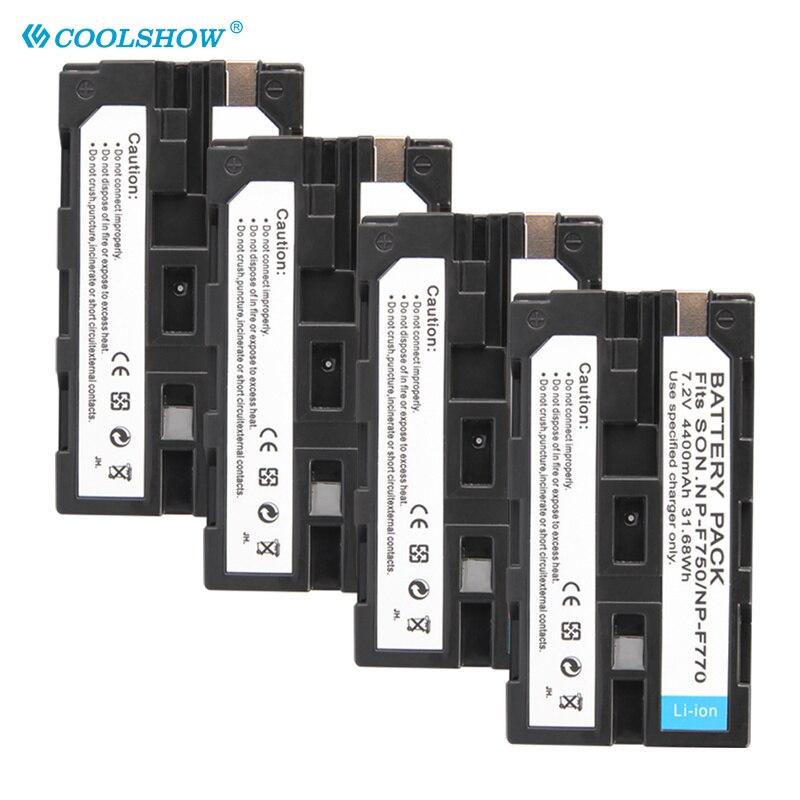 NP F750 F770 F730 F960 F970 NPF750 NPF770 NPF730 Caméra Batterie 4400mah pour CCD-TRV58 TRV110K TRV26E V1J Z1 TRV36 Batteries