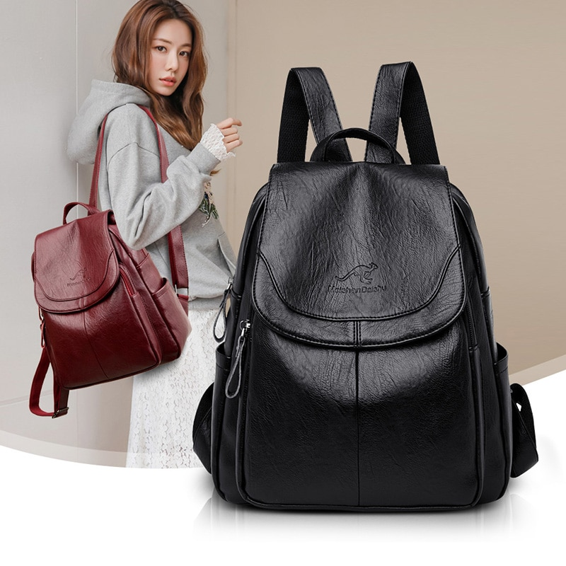 2020 Luxury Brand Women Backpack High Quality Leather Backpacks Travel Backpack Fashion School Bags for Girls mochila feminina
