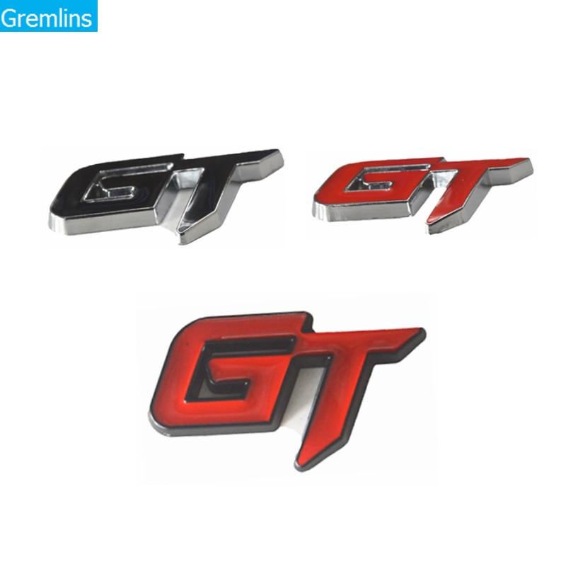 Universal 3D metal GT coche logo lateral insignia trasera maletero decoración creativa emblema del cuerpo pegatina Auto estilo para KIA VW