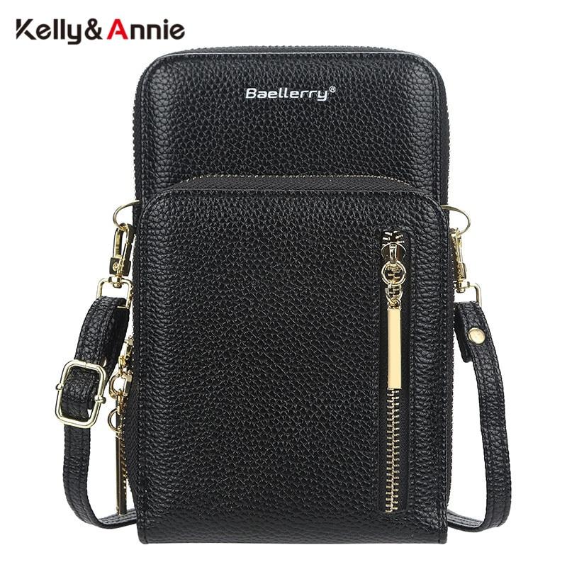 HOT Fashion Cell Phone Pocket Women's Shoulder Bag Pu Leather Female Card Purse Ladies Small Crossbody Bags Handbag Designer