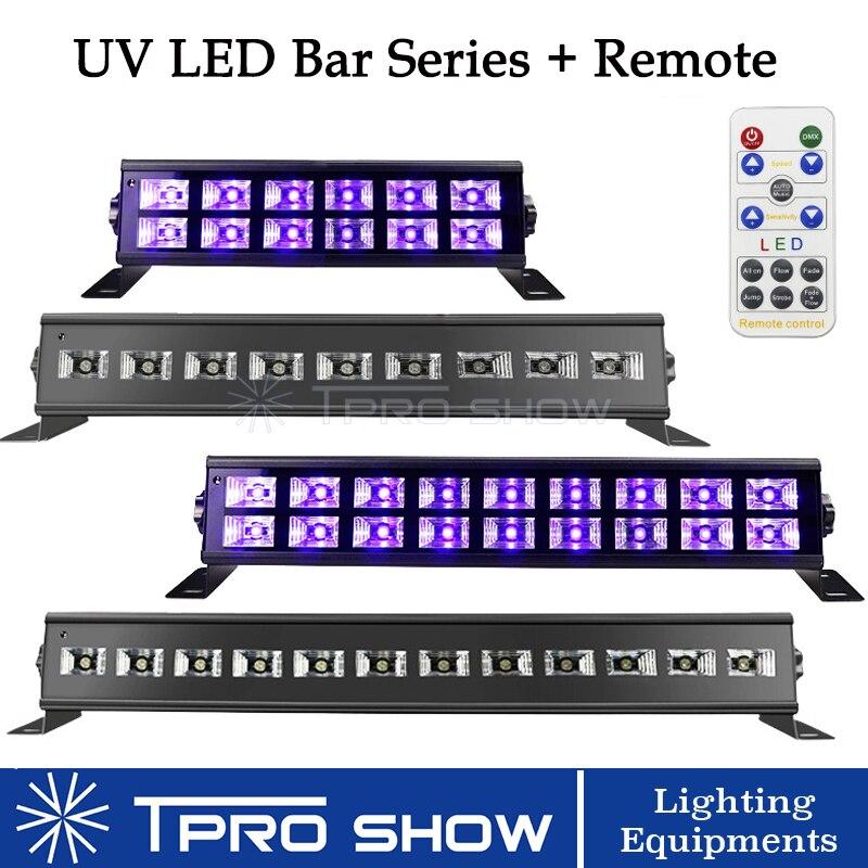 24 led barra 12 uv linear lâmpada luz de discoteca controle remoto uv blacklight led lavagem parede dj projetor para festa natal clube estágio