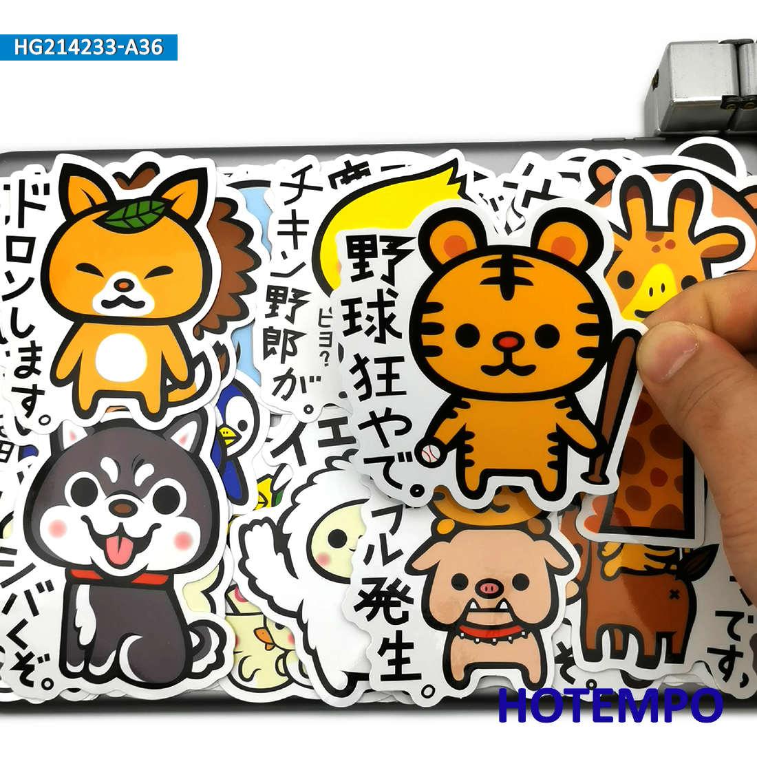 36 шт. Милые мультяшные животные Kawaii японские забавные аниме-телефоны, ноутбук, скейтборд, автомобильные наклейки для ноутбука, велосипеда, в...