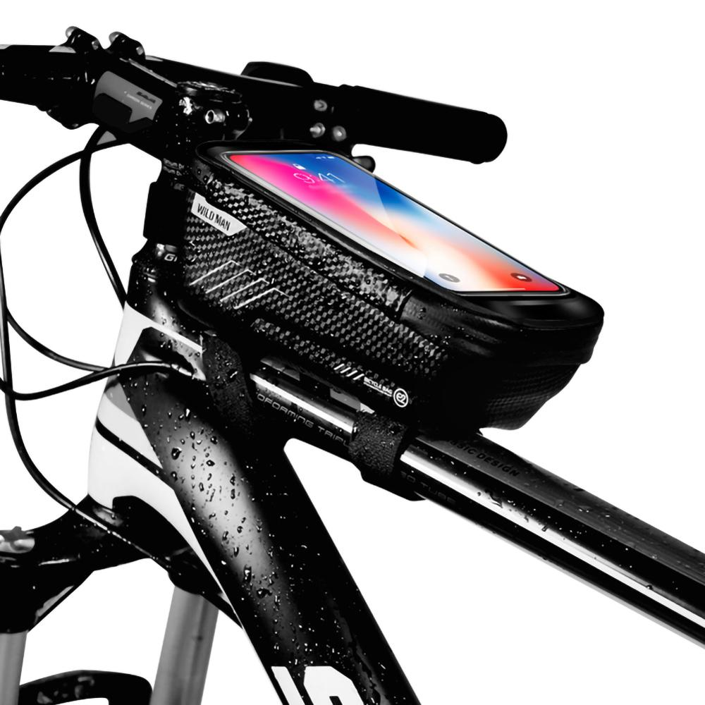 AliExpress - High Quality Rainproof Bicycle Bag Frame Front Top Tube Cycling Bag Reflective 6.5in Phone Case Touchscreen Bag For MTB Bike