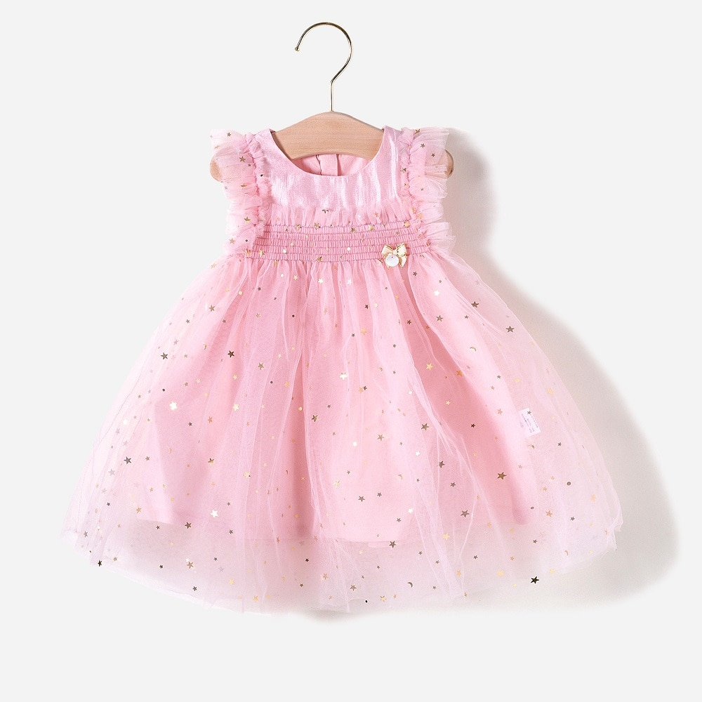 Vlinder vestido da menina do bebê roupas da menina do bebê verão festa de aniversário vestido de princesa recém-nascido mangas curtas infantil bonito vestido de bebê menina