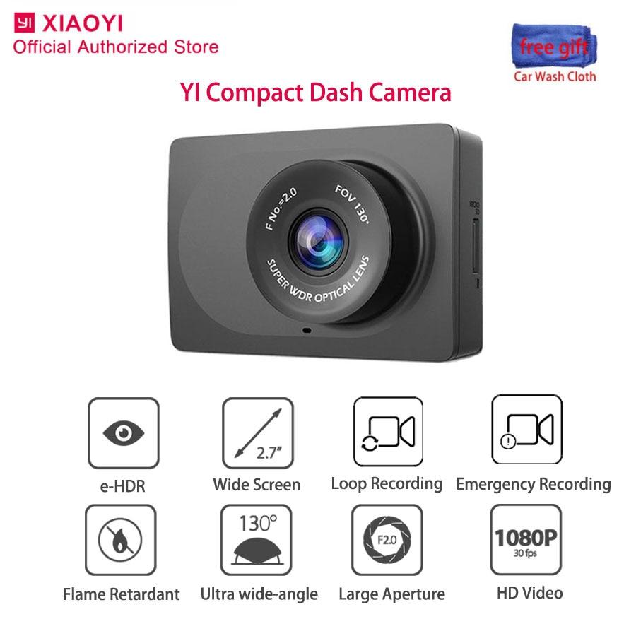 Cámara de salpicadero compacta Yi Original visión nocturna Cámara inteligente para automóviles 1080P gran angular Dashcam grabación automática grabadora de vídeo 2,7 pulgadas Dvr