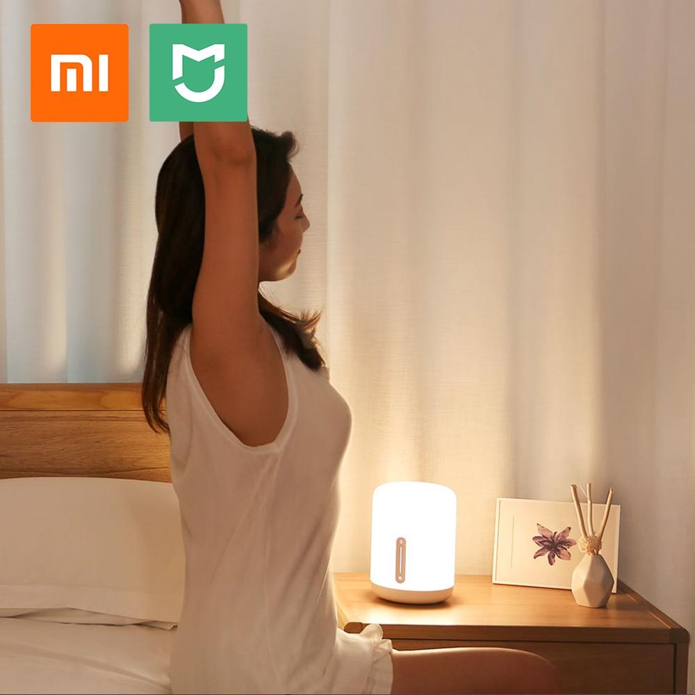 شاومي ضوء السرير الذكية LED RGB مصباح طاولة صغير Mi المنزل App اللاسلكية عن بعد غرفة نوم مكتب ليلة ضوء ل أبل HomeKit سيري