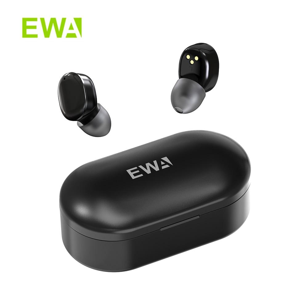 EWA T300 باوهاوس StyleTWS ياربود بلوتوث 5.0 في الأذن HD ستيريو لاسلكي سماعات مع ميكروفون مقاوم للماء سماعات شحن مجاني