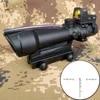 5X35 ACOG ציד Riflescope BDC שברון הפרסה Reticle כוונות אופטיות עם אדום נקודה עבור טקטי רובה cal .223 .308