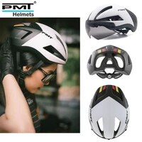 pmt ultralight bicycle helmet integrated mirror professional road bike with magnetic glasses bicycle helmet dual mode integrated