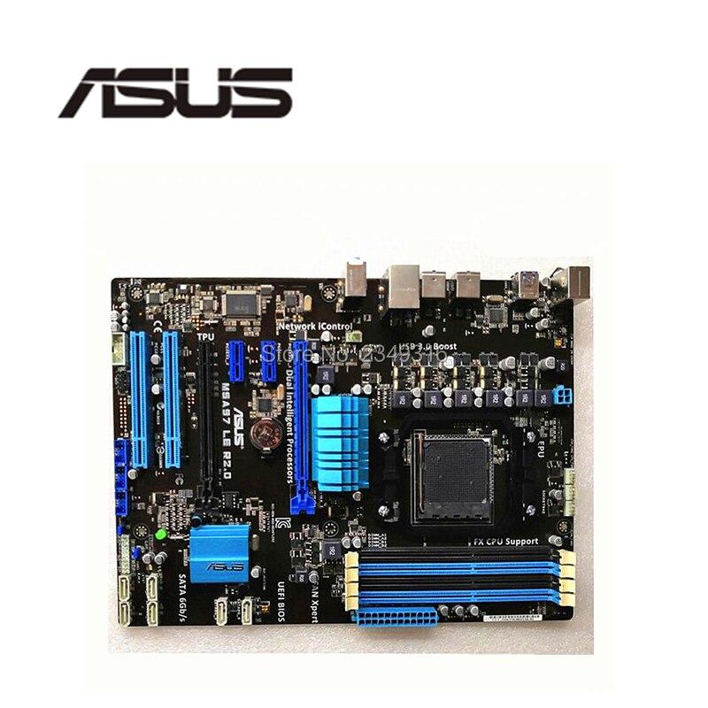 Para asus m5a97 le r2.0 original usado desktop para 970 placa-mãe soquete am3 + ddr3 usb3.0 sata3