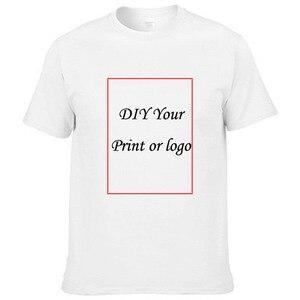 2021 spring/summer trend pure color cotton round collar T-shirt shirt advertising shirt custom DIY short sleeves printed logo