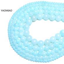 Sapphire blue Persian jade Round Stone Beads for Jewelry Making 15'' Strand DIY Bracelet 6mm 8mm 10mm 12mm