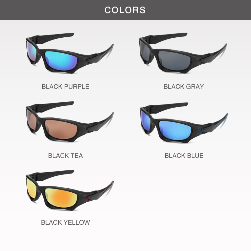 Men Fashion Outdoor Sports Polarized Sunglasses Curve Cutting Frame Stress-Resistant Lens Shield Lux