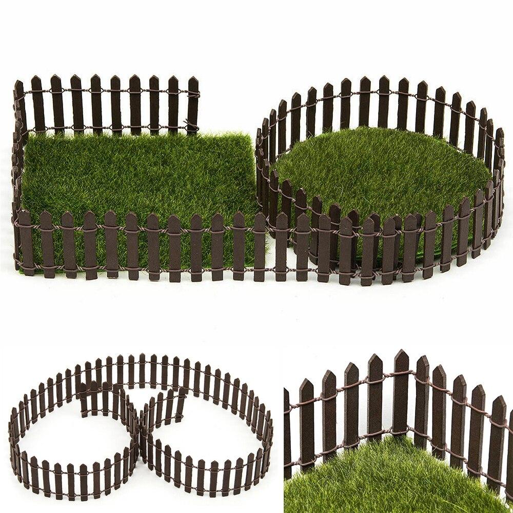 100*5cm/3cm DIY Miniature Mini Fence Fairy Garden Barrier Wooden Craft Room Decor Maison Figurine Home Decoration Accessories