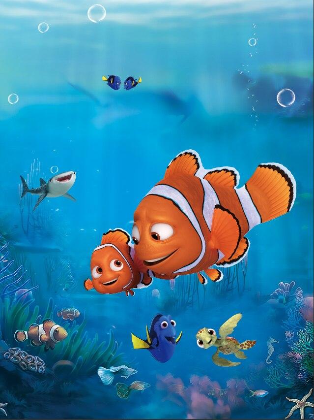 5x7 pies encontrar Nemo Marlin azul mar peces corales personalizado foto estudio fondos vinilo 150cm x 220cm
