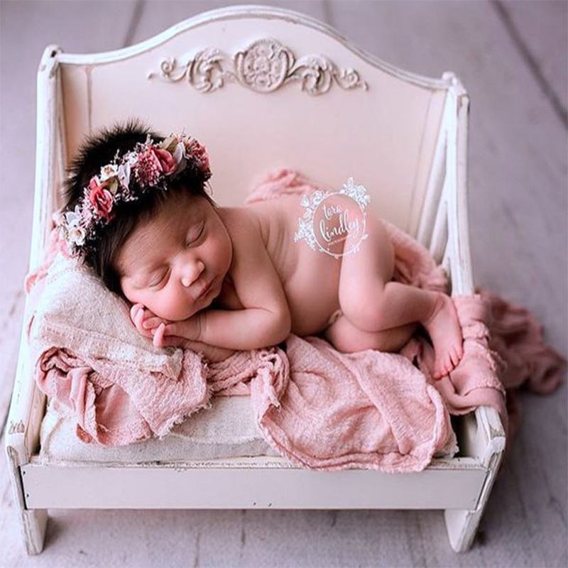 Coconut Newborn Photography Props new cute princess baby wooden bed photo artifact full moon photography prop  baby bed enlarge