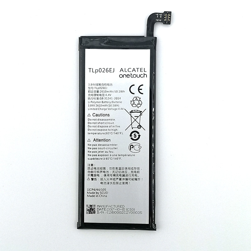 100% Original 2610mAh TLP026E2 TLp026EJ Bateria Para ALCATEL ONE TOUCH Ídolo ÍDOLO 4 6055K OT-6055 4 6055B 6055H 6055U 6055Y Telefone