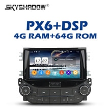 PX6 DSP Android 9,0 4GB + 64GB coche reproductor de DVD Wifi IPS Bluetooth 5,0 RDS RADIO Auto GPS mapa para Chevrolet Malibú 2013 de 2014 a 2015