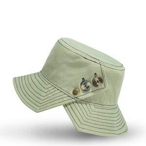 2021 Spring New Design Irregular Fisherman Hat Girl Beach Fashion Button Split Brim Bucket Hat Lady Summer Sun Cap 55-59cm