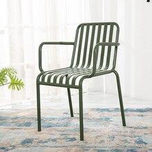 الحديد المطاوع الطعام كرسي في الهواء الطلق الجدول وكرسي مزيج فناء شرفة الحليب الشاي متجر مقهى كرسي الاستجمام