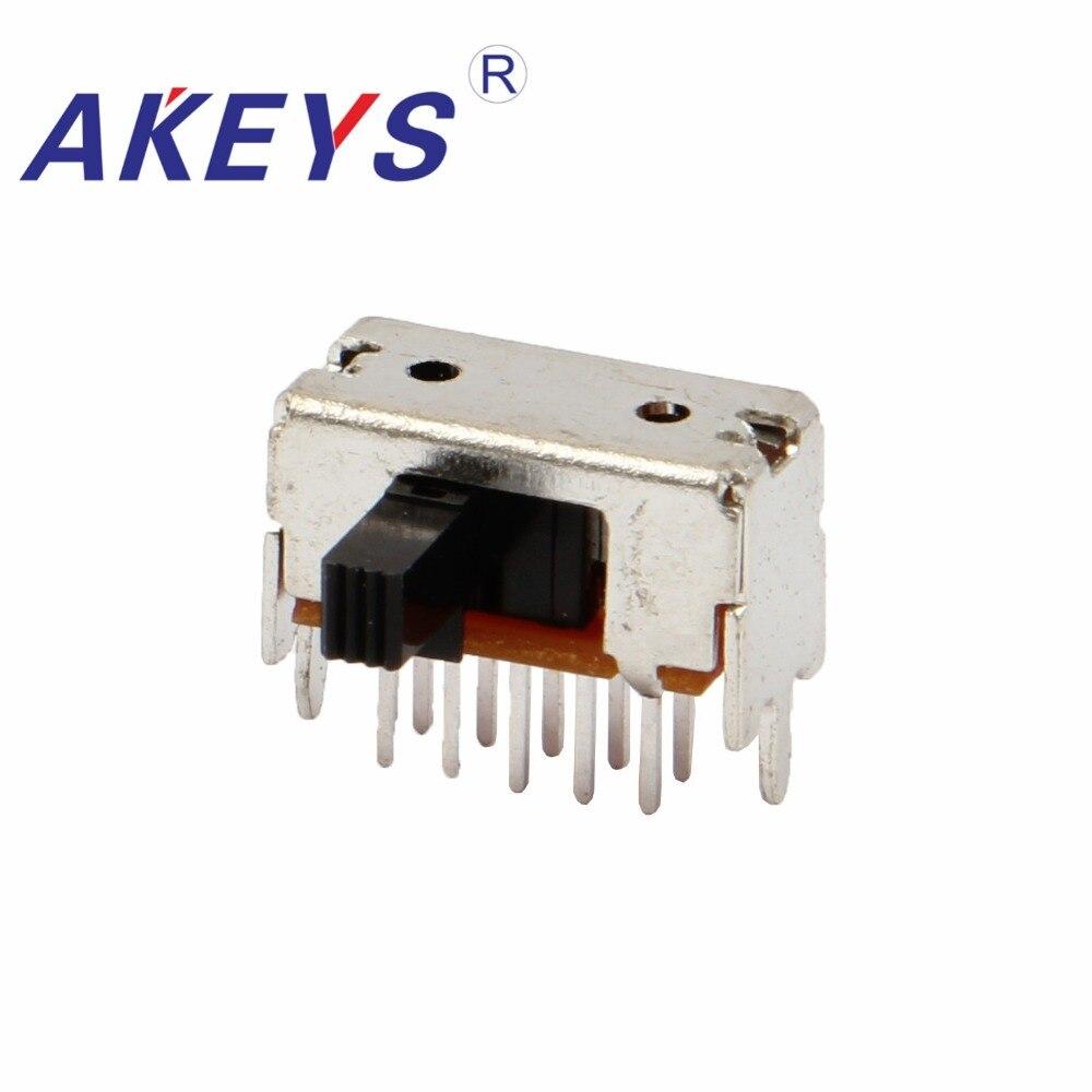 10 piezas SK-23D55 2P3T-G6 doble poste tres deslizamiento interruptor lateral insertar 10...