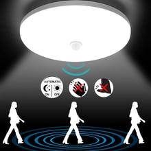 LED Lights PIR Motion Sensor LED Ceiling Lamp AC85-220V Modern Ultra-thin Warm White Cold White Balcony Hallways Corridor Garage