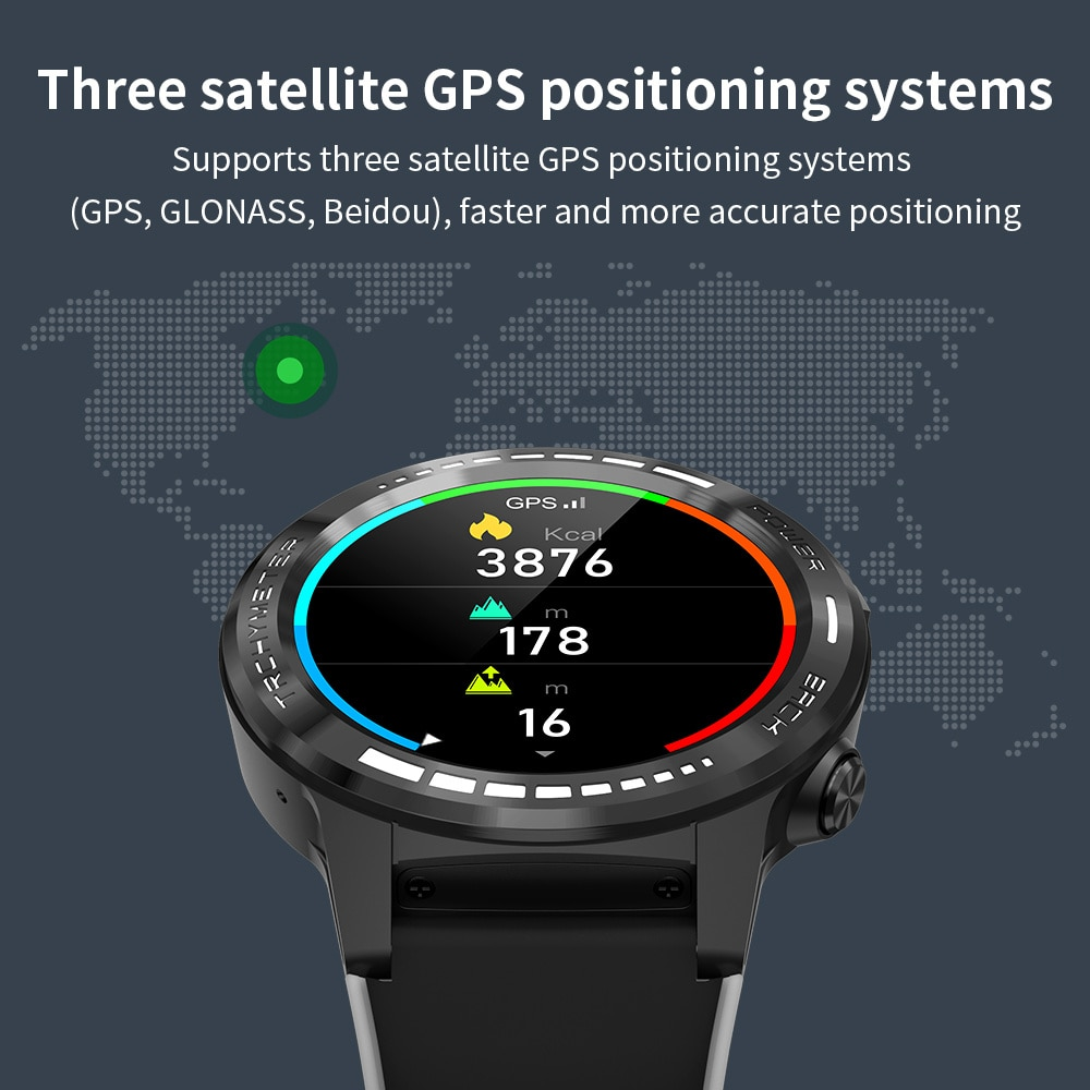 M7S sim card call Smart watch GPS 2021 Smartwatch for male compass Barometer Heights Outdoor Sport Bluetooth Smart watch man enlarge