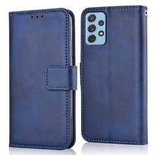 Luxury Flip Leather Case for Samsung Galaxy A52 4G A525 A525F SM-A525F 6.5'' Fundas Stand Wallet Sof