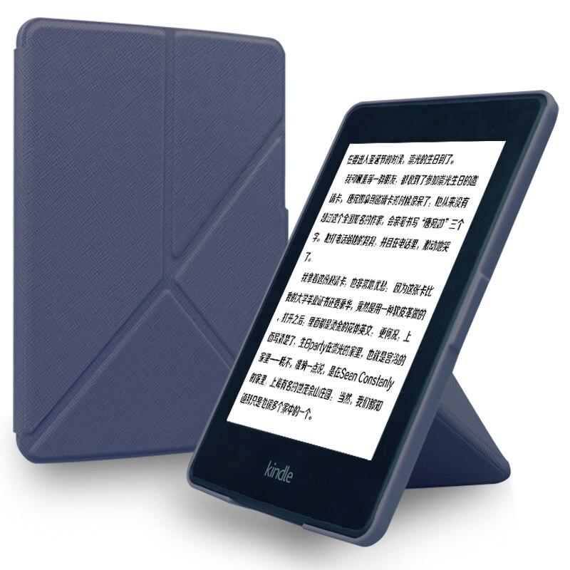 Funda magnética Ultra delgada para kindle paperwhite 1 2 3, funda inteligente de piel sintética, funda con soporte para Tablet, funda para Kindle 958