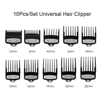 10pcsset universal hair clipper 1 534 56101316192225mm limit combs electric clipper positioning comb replacement tools