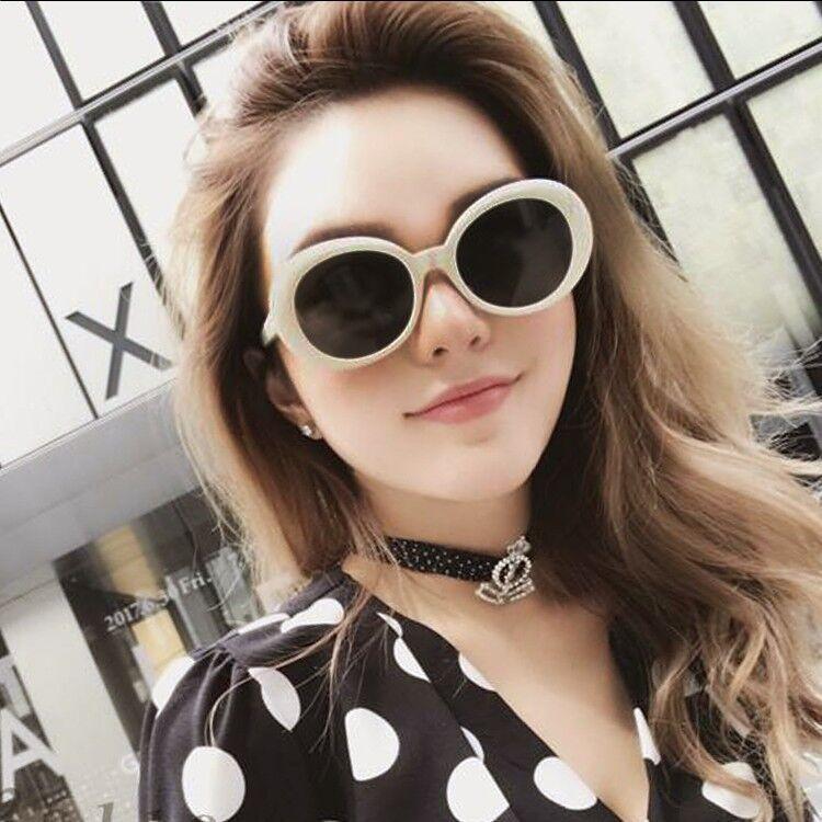 Óculos de sol para senhoras na europa e nos estados unidos moda pequeno quadro espelho toad olho oval dia adulto óculos de condução