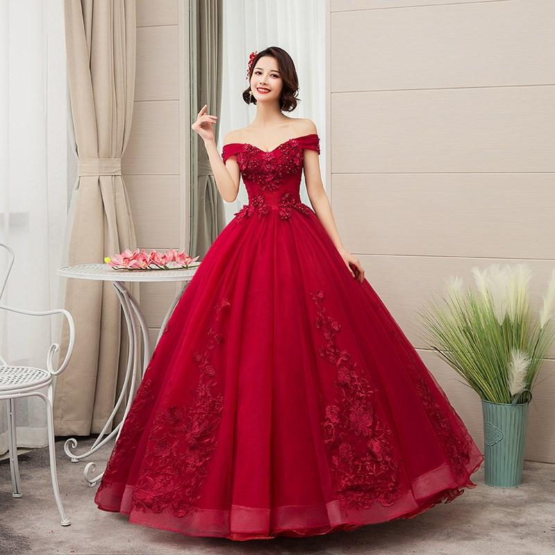 2021 New Off The Shoulder Luxury Lace Party Vestidos 15 Anos Vintage Quinceanera Dresses 4 Colors Qu