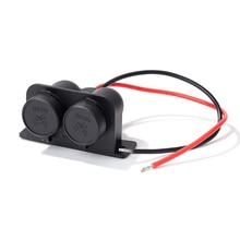 Car Cigarette Cigar Lighter Socket Charger Power Supply Outlet Waterproof Dual Power Outlet with Wir