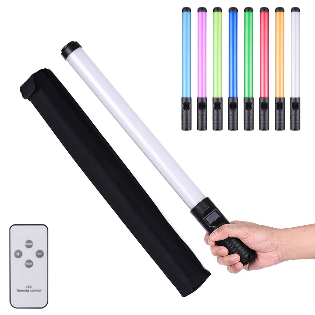 portable handheld led video light usb rechargeable photography lamp stick adjustable ice camera video light with remote control RGB Handheld LED Light Wand Colorful Photography Lighting Stick 10 Modes Rechargeable Photo Studio Fill Lamp For Youtube Video